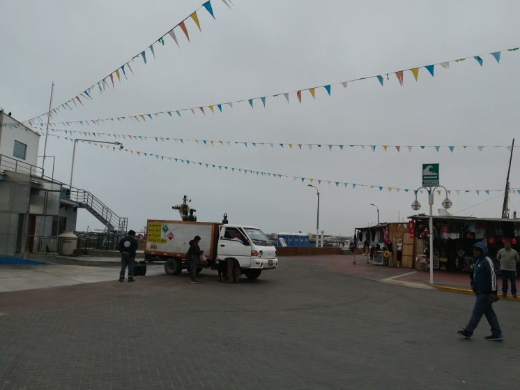 Festive flags over the town
